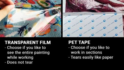 Transparent film or PET tape Diamond Painting Glue Cover Double Sided