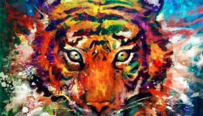 Colorful Tiger Diamond Painting