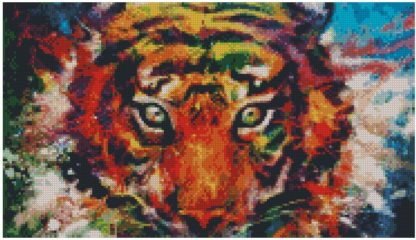 Colorful Tiger Diamond Painting 90x52cm