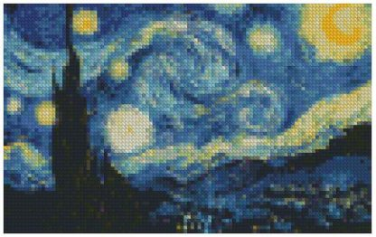 Vincent Van Gogh Starry Night 45x30cm