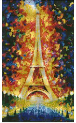 Eiffel tower diamond painting round drill 22cmx37cm