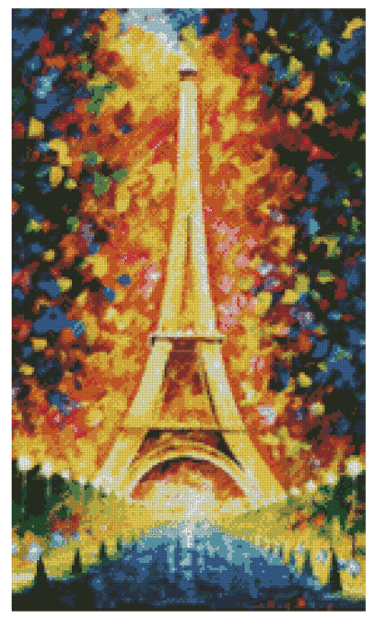 Eiffel tower diamond painting round drill 40cmx68cm
