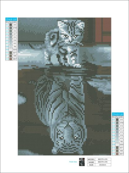 Kitty to Tiger canvas sample
